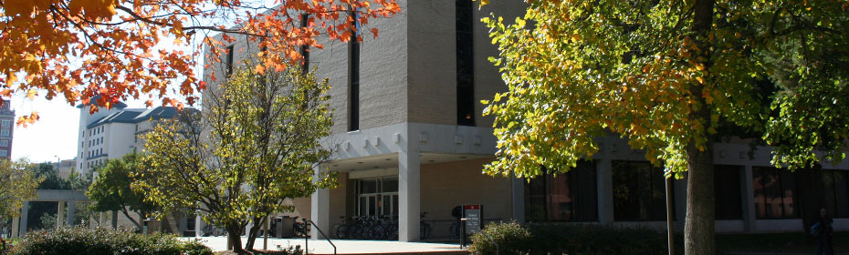 Westbrook Music Building in Fall
